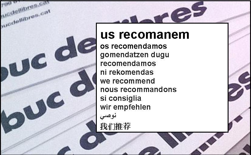 recomanem recomendamos